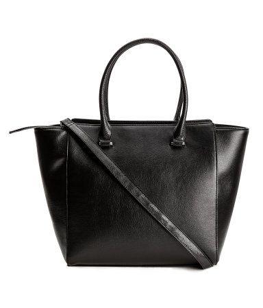 Handbag | Black | Ladies | H&M US | style on the brain