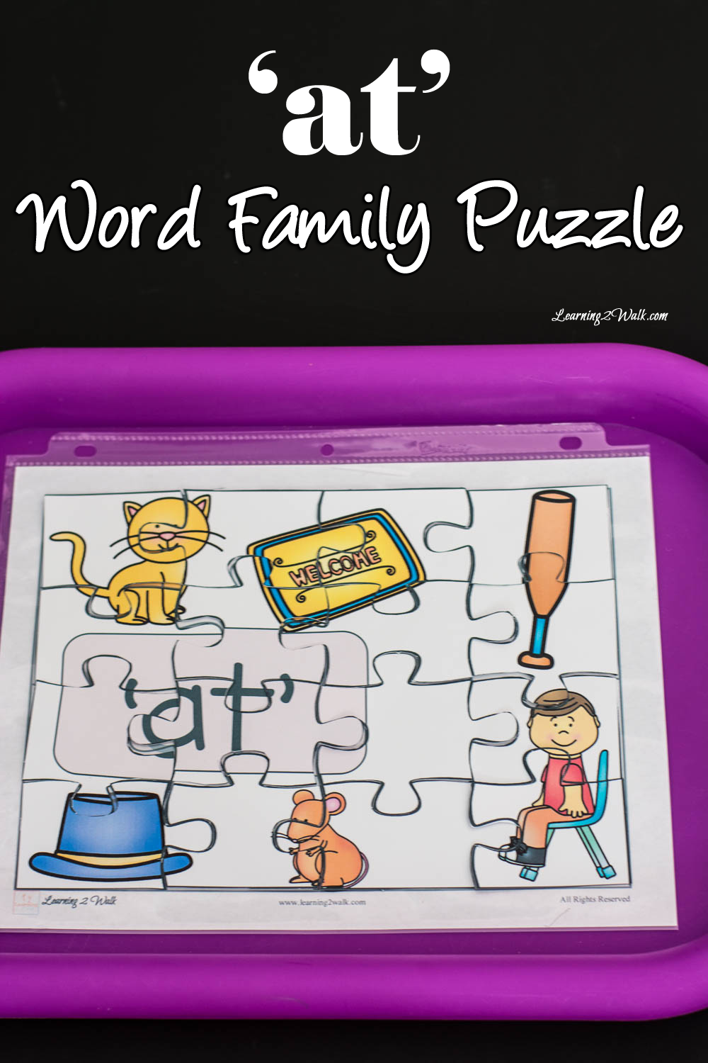 At\' Word Family Puzzle