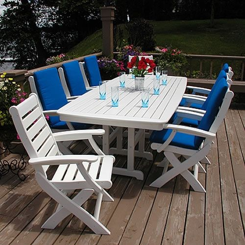 Polywood Nautical 44 X 96 In Dining Table Plastic Patio