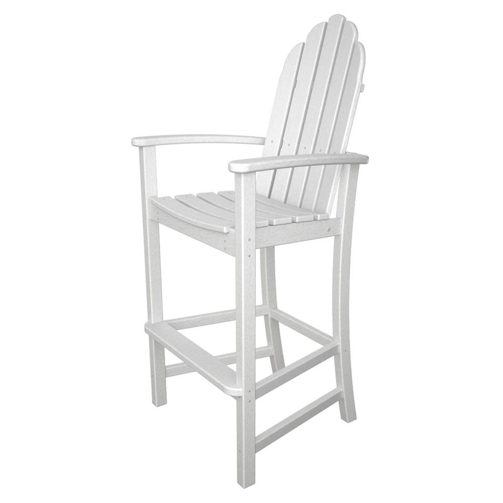 cool white polywood adirondack bar height chair