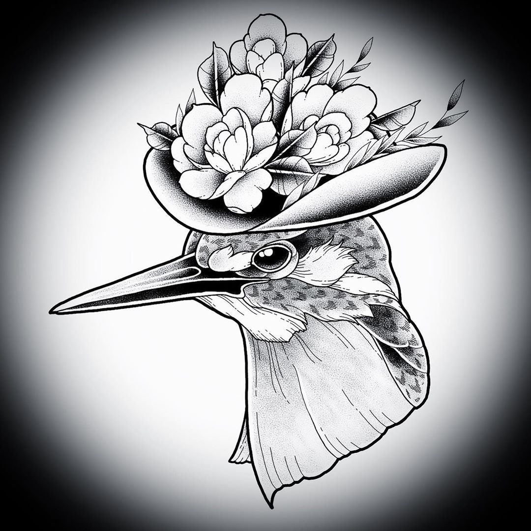 Kingfisher with a floral hat done up for my client~ absolutely love animal projects and an extra bonus being able to do one in conjunction with floral elements! Always excited to hear your ideas, come get at me @97582529 or email me if you'd like to get a tattoo done by me! #blackart #blackarttattoo #blacktattoo #blacktattooart #btattooing #blxckink #blackworkers #blackworkerssubmission #darkartists #occultarcana #taot #tttism #tattoo #ink #sgtattoo #sgink #singapore #singaporeink #singaporetatt