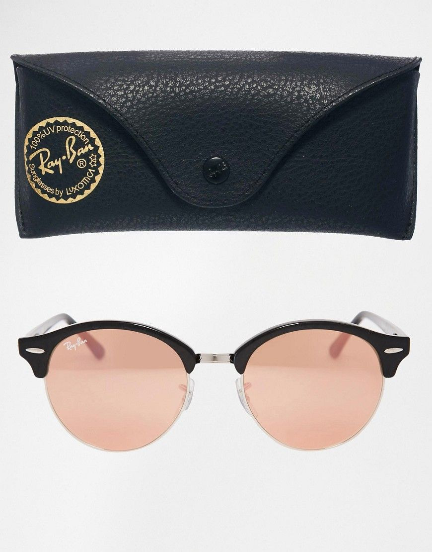 ray ban femme ronde rose