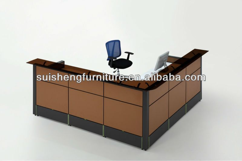Modern design high quality office reception table counter for Office counter design