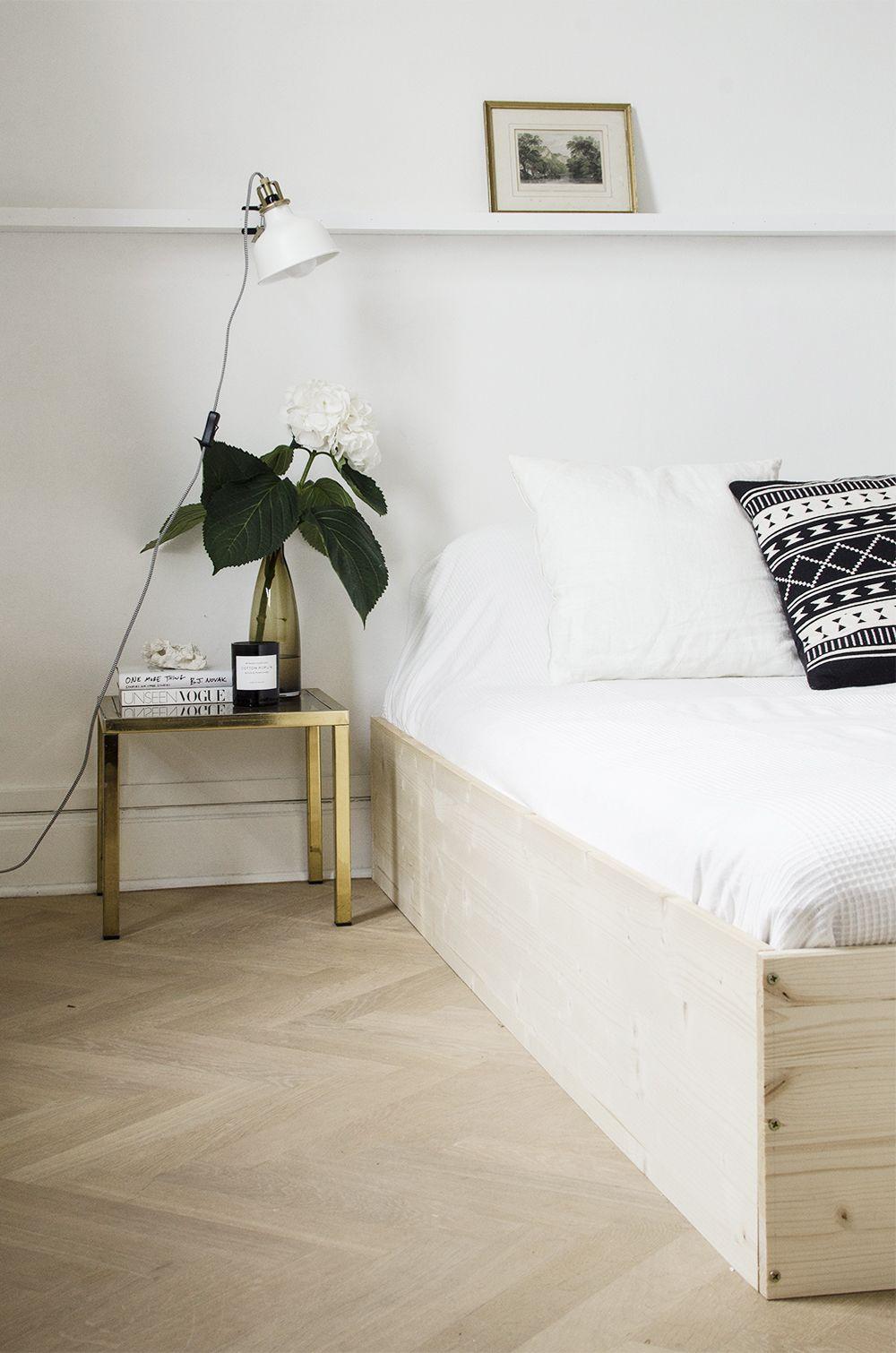 Diy Minimal Bedframe No Glitter No Glory Diy Bed Bed Frame