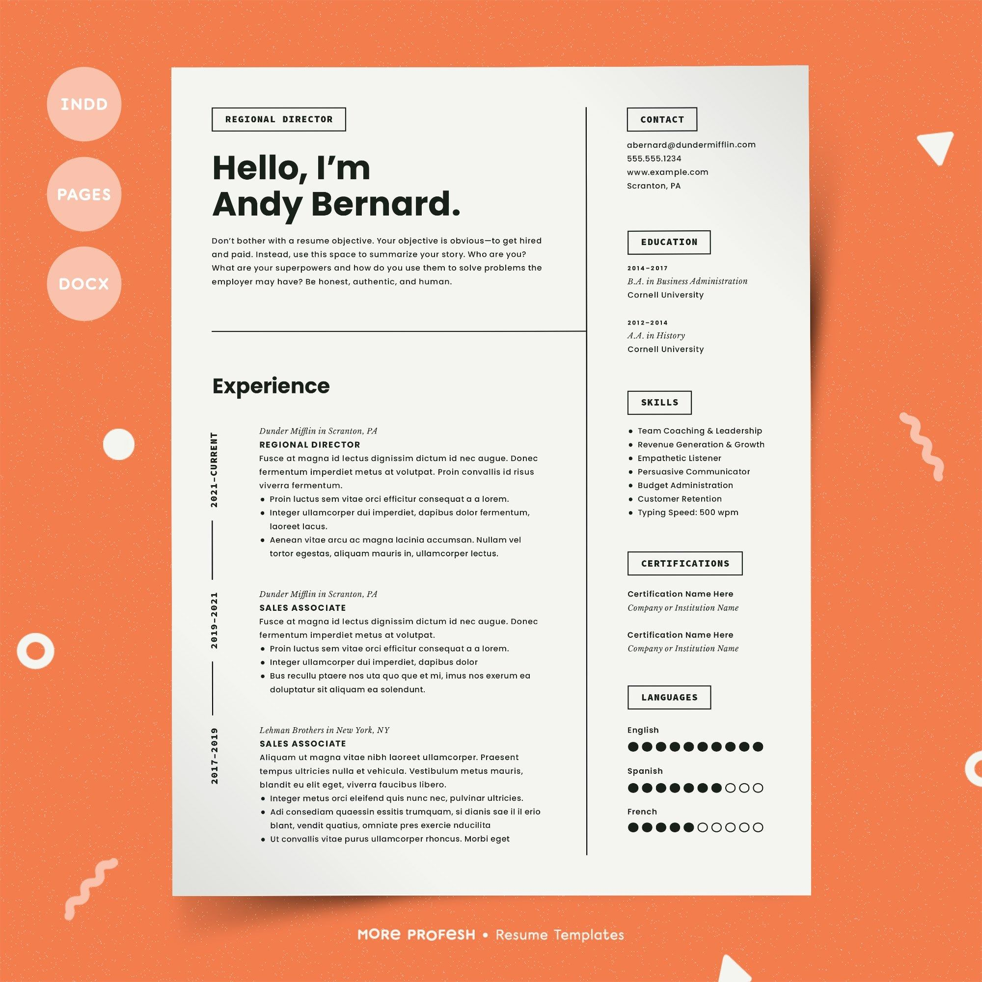 Modern Resume Template Cv Modern Resume Template Simple Resume Template Minimalist Resume