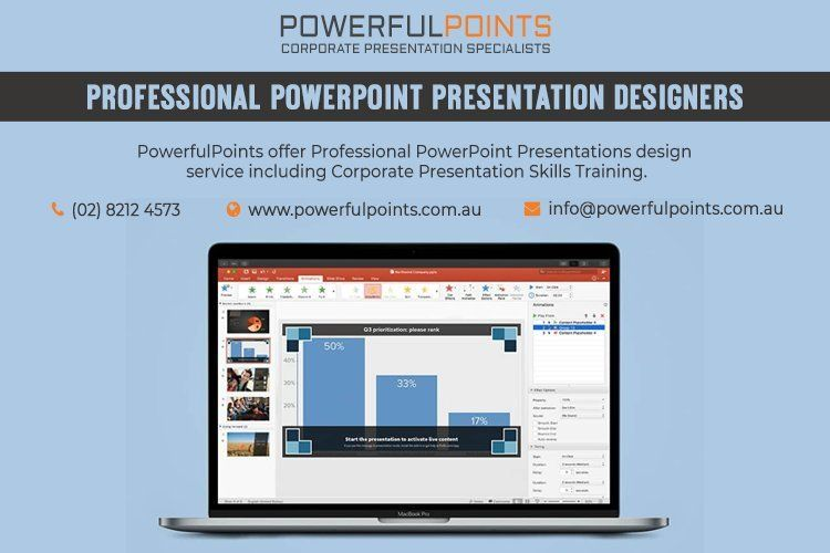 create a professional corporate presentation with the help of
