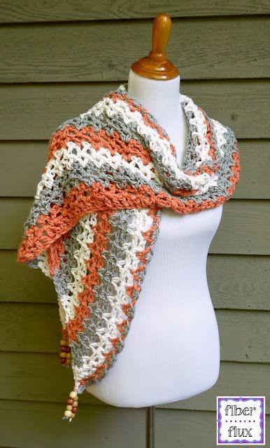 Free Crochet Pattern...Tidepool Wrap! | Pinterest | Dreieckstuch ...