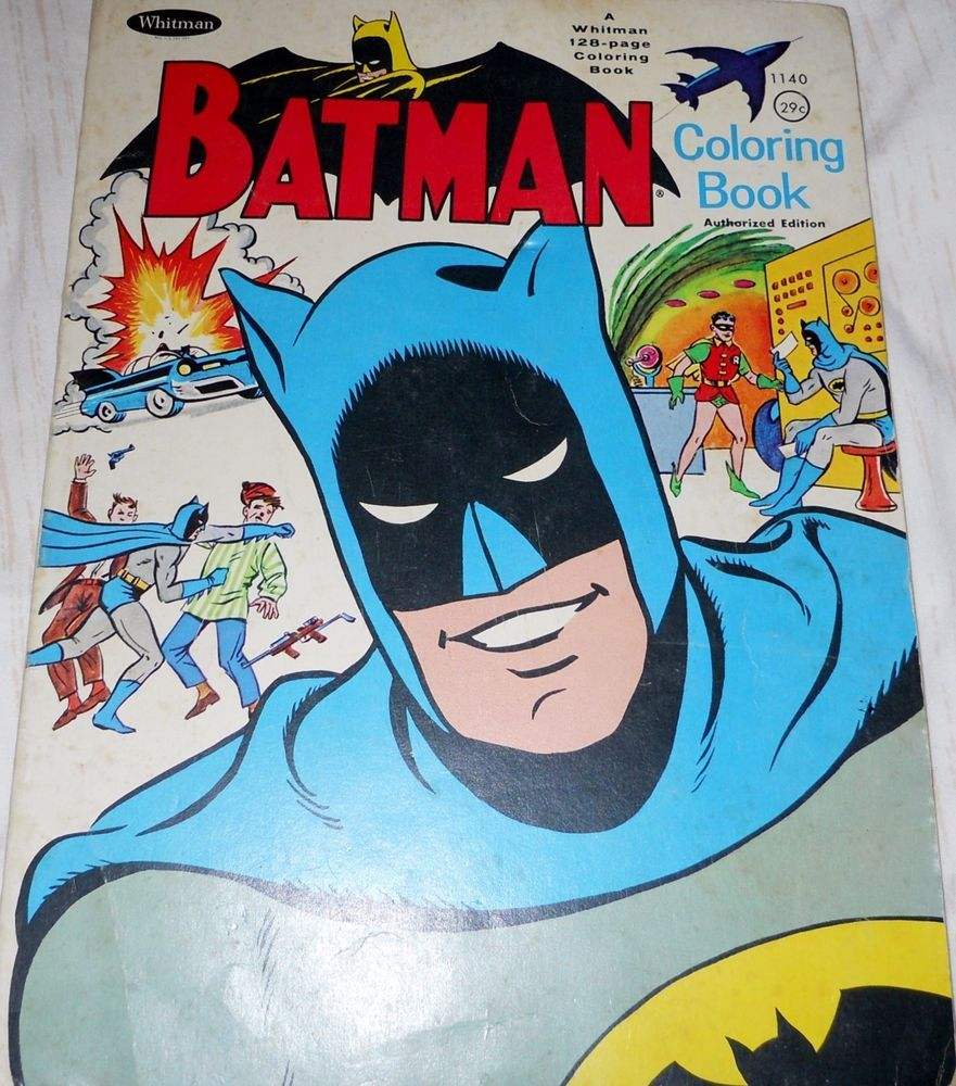 Original Artwork 1966 Batman Coloring Book 128 Pg Whitman