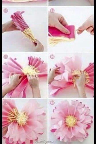 Tissue paper flower groovy art pinterest tissue paper paper tissue paper flower mightylinksfo Images