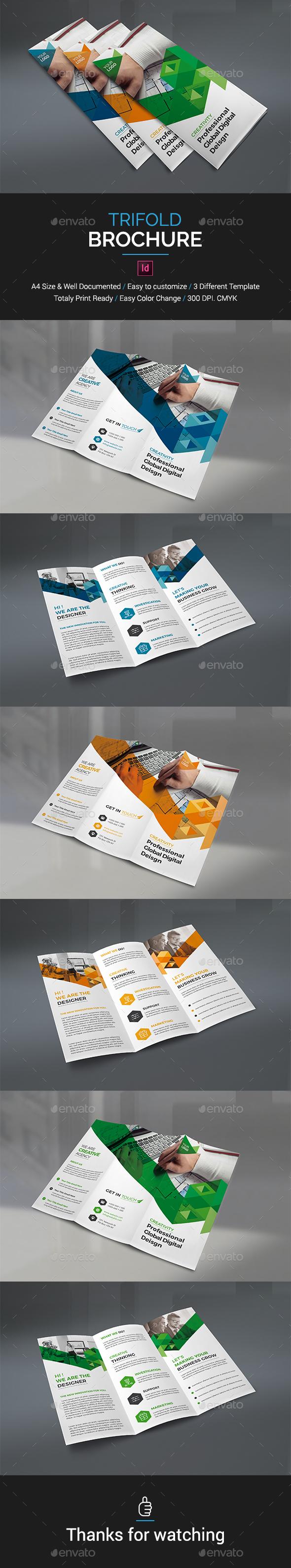 trifold brochure template indesign indd brochure templates pinterest