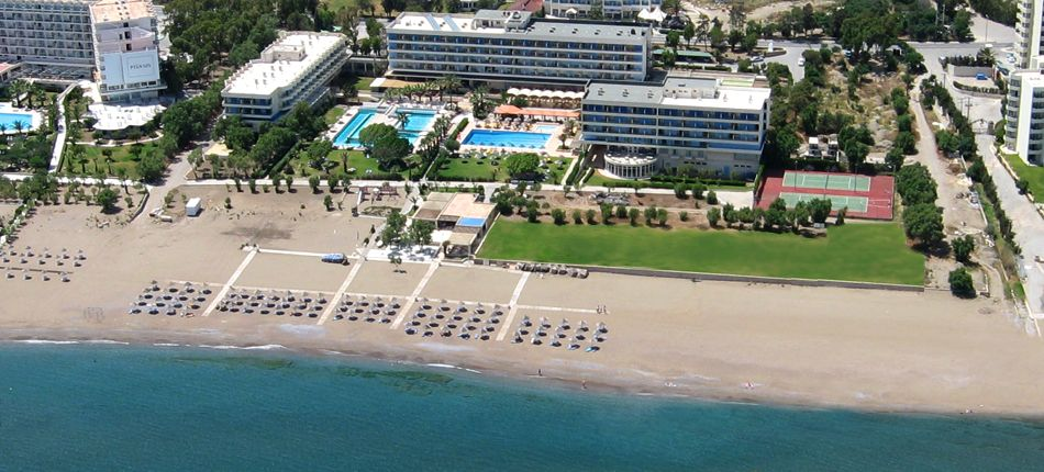 Blue Sea Beach Resort Rhodes For more pictures, visit http://a-sea-of-luxury.tumblr.com/