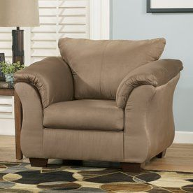 Microfiber Club Chair With Ottoman Spandex Covers Wholesale China Signature Design By Ashley Darcy Casual Mocha 7500220