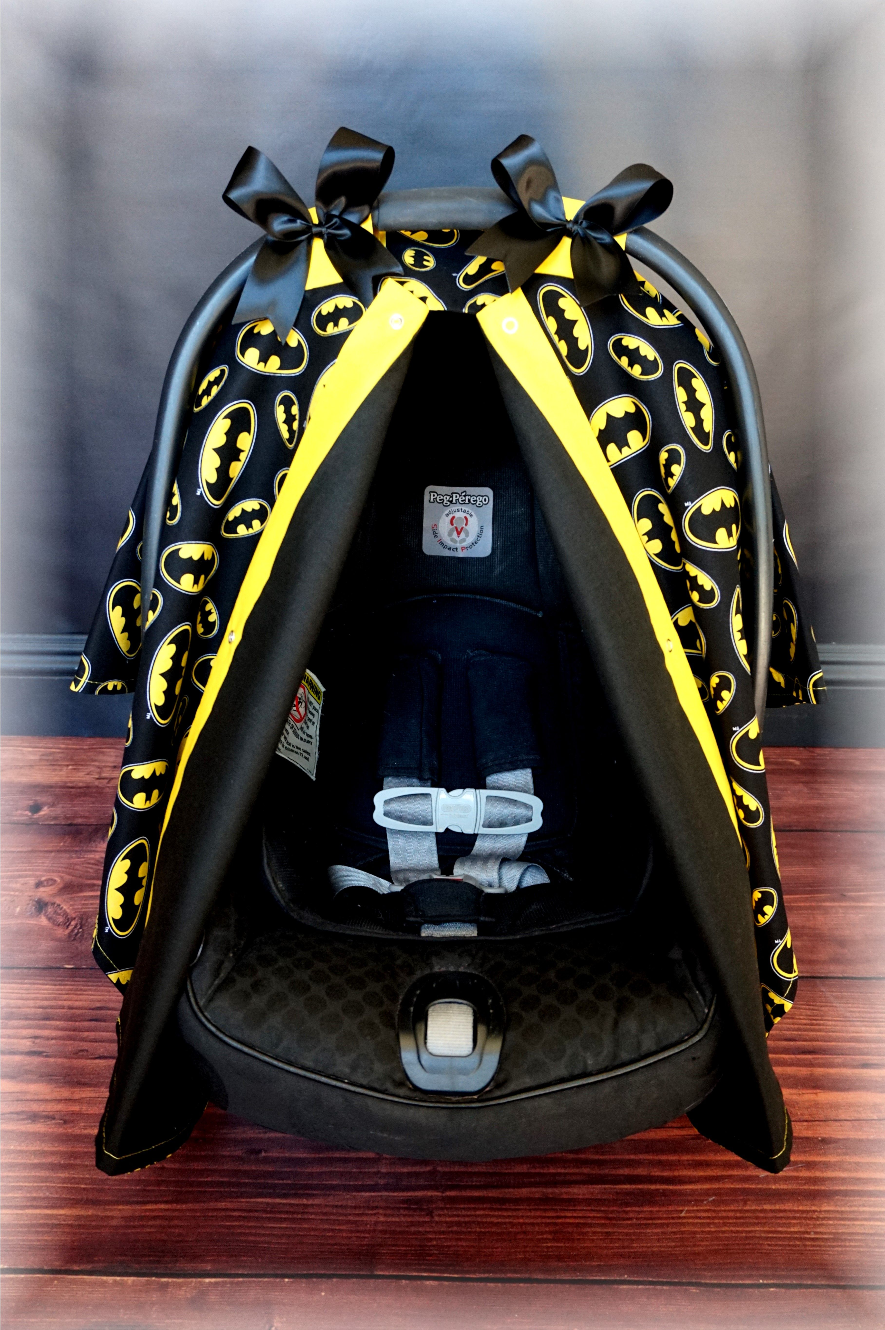 Items Similar To BATMAN Black And Yellow Carseat Canopy