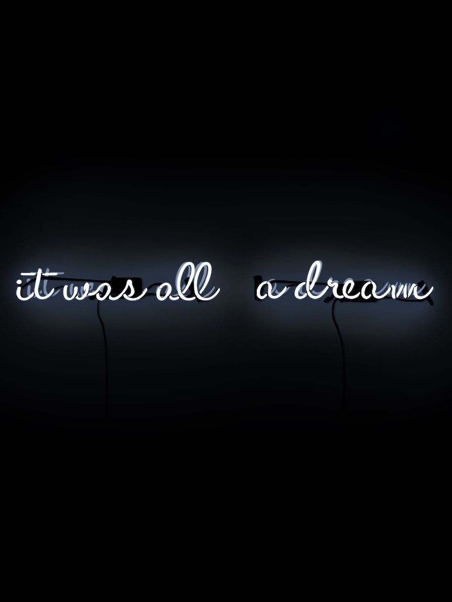 It Was All A Dream Neon Sign Glamorous Oliver Gal It Was All A Dream Neon Signs 2 Pc  Fashion Home Decorating Inspiration