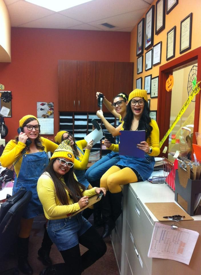 minion costume best halloween costume for the office minions hard at work - Halloween At Work Ideas