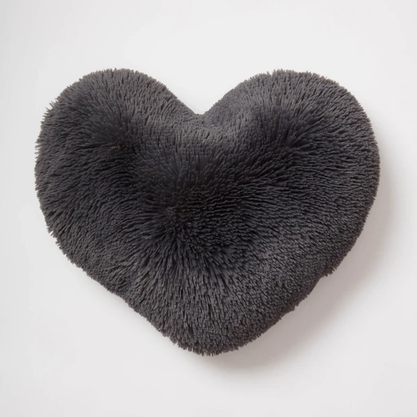 Faux Fur Heart Pillow