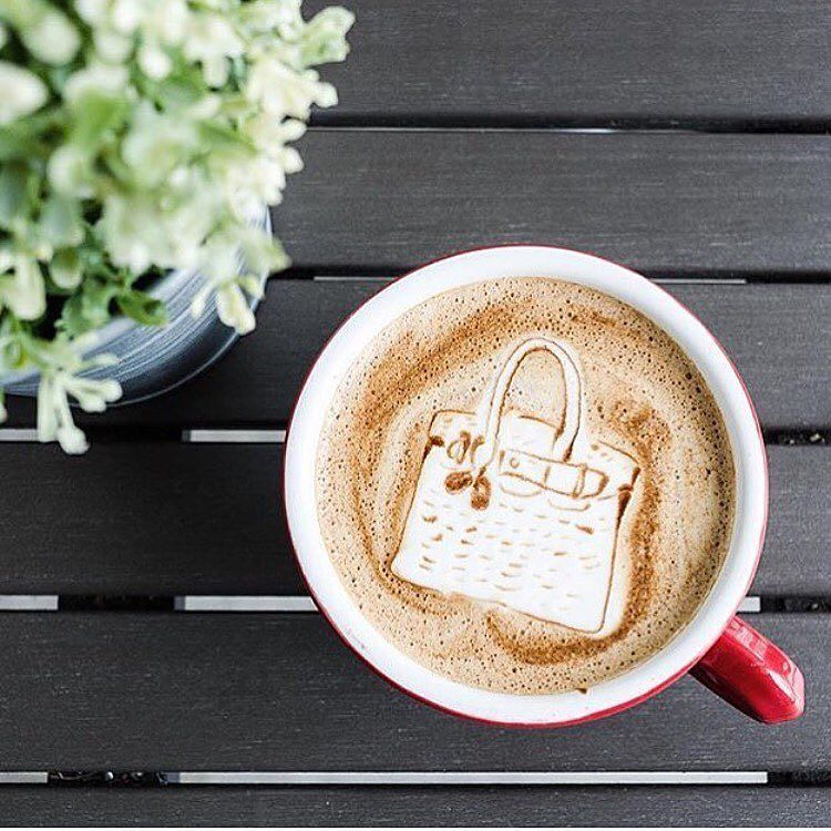 A very #Hermès morning to you all  #DesignerCoffee