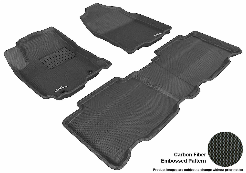 Smartliner Floor Mats 2nd And 3rd Row Liner Black For 2008 2018