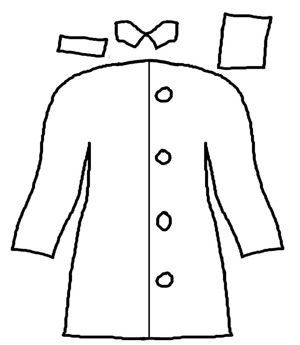 Rain Coat Long And Cool Coloring