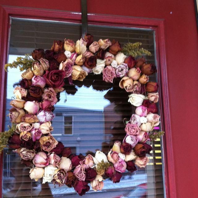 Handmade Dried Rose Wreath