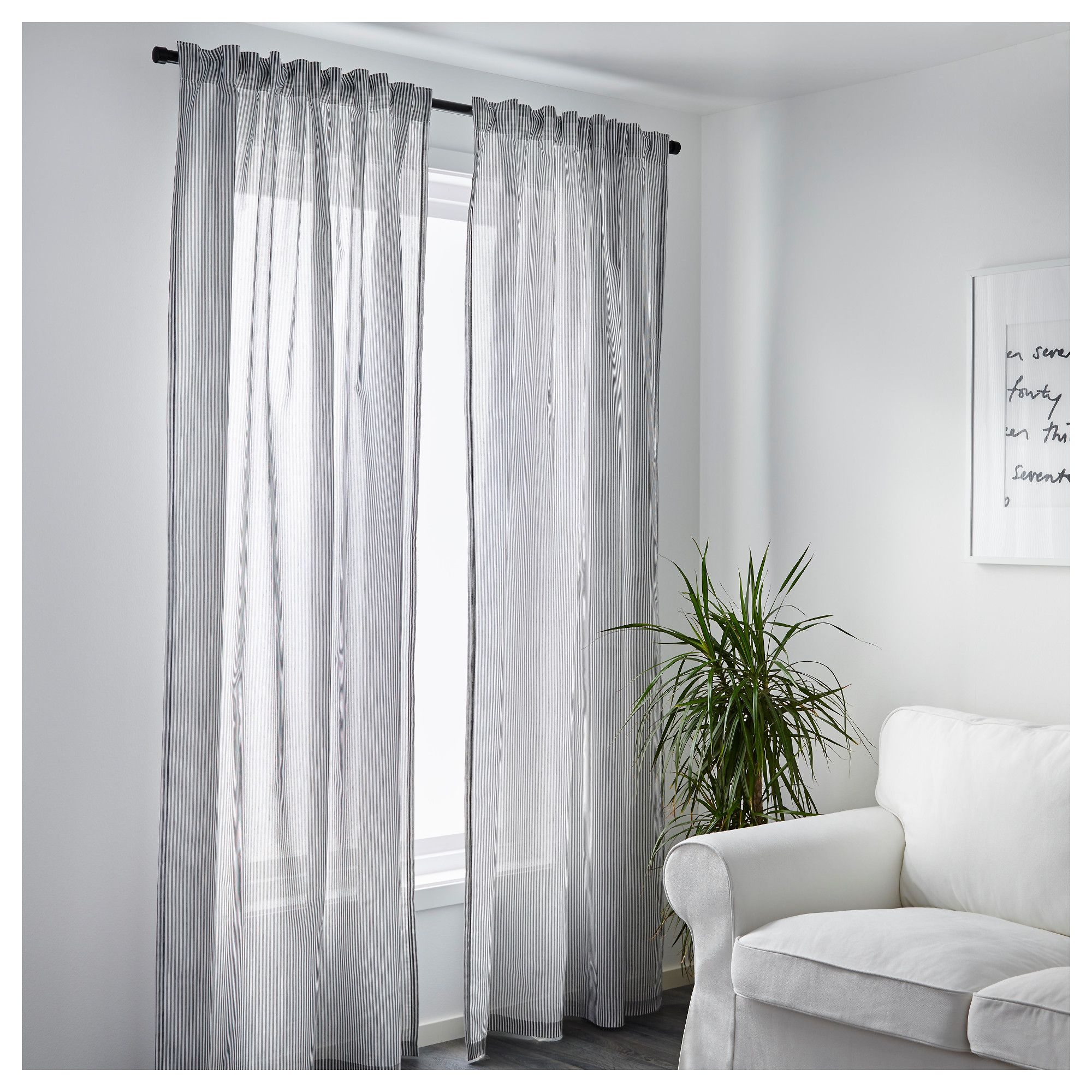 Bunk bed curtains ikea the curtains are four lenda - Ikea Gulsporre Curtains 1 Pair The Curtains Can Be Used On A Curtain Rod Or
