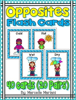 Opposites Flash Cards Opposites Word Wall Cards Opposites