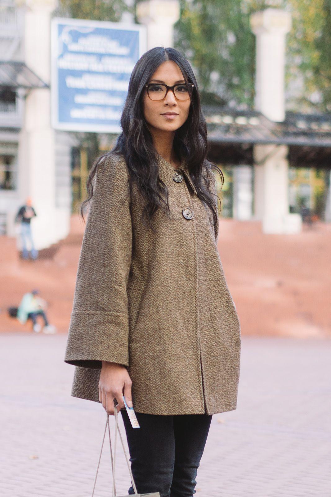 On the street, tweed swing jacket, Portland OR | Geek Chic ...