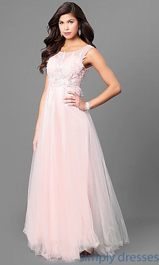 Lace Applique Long Prom Dress With Uneven Hemline Crystals