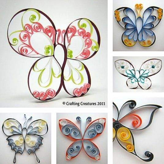 Quilled Butterflies Paper Roll Crafts Quilling Designs
