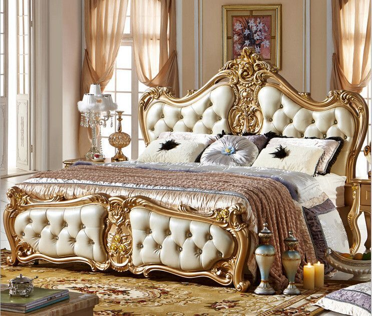 Now trending King Size Bed Modern Classic Luxury Antique