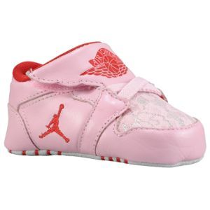 30524518168 Jordan 1st Crib - Girls  Infant - Basketball - Shoes - White Perfect Pink