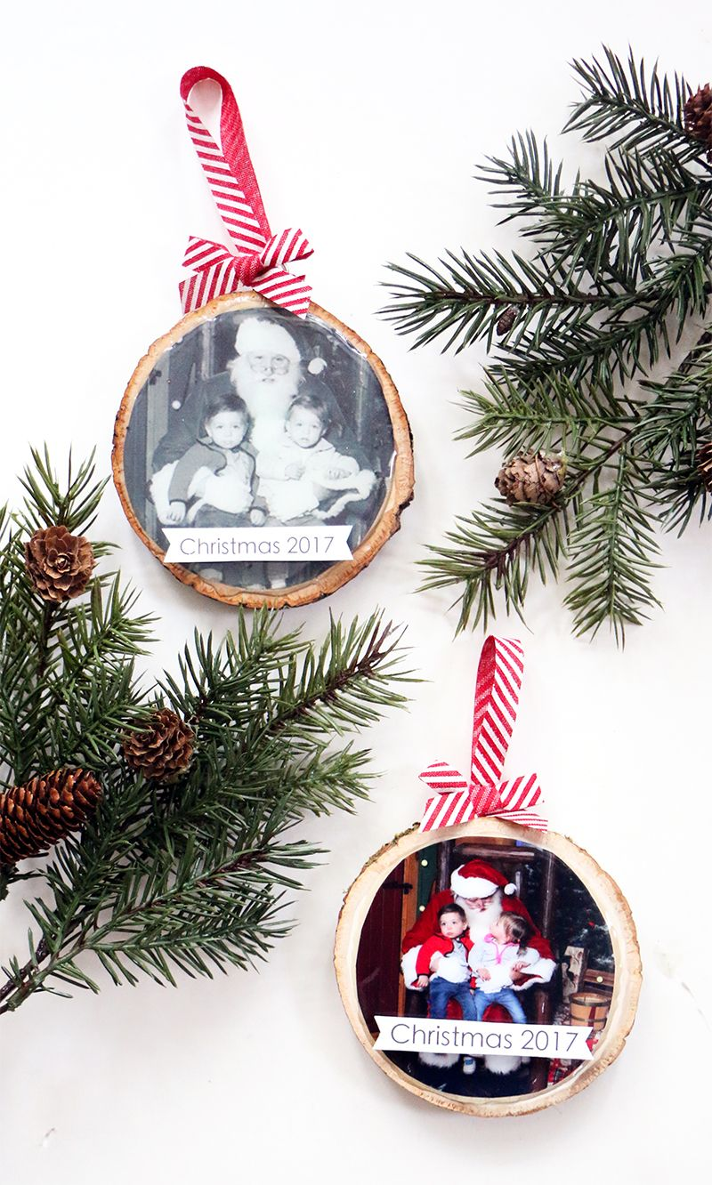 Here S How To Make Your Own Diy Wood Slice Ornament Wood Slice Ornament Christmas Crafts Diy Wood Slice Crafts