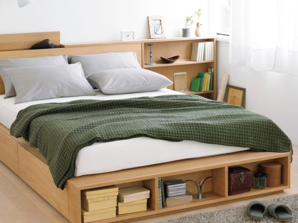 Large Double Light Ash Bed in 2020 Japanese style