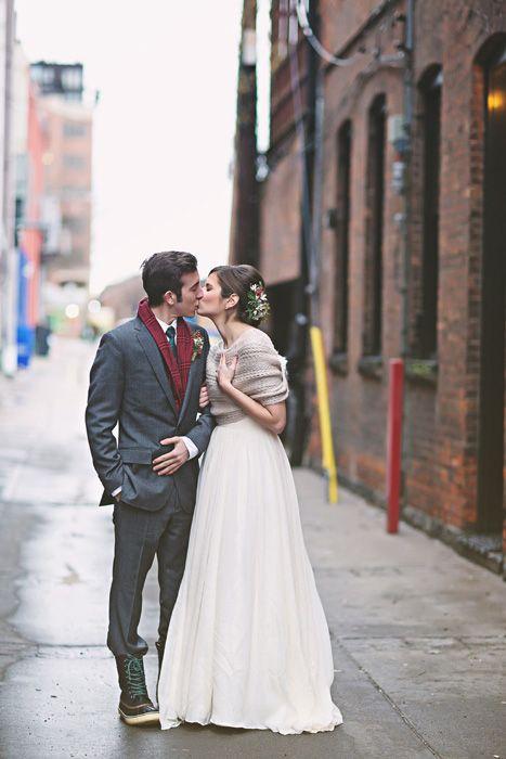 Ann Arbor Winter Wine Bar Wedding: Michelle and Tristan