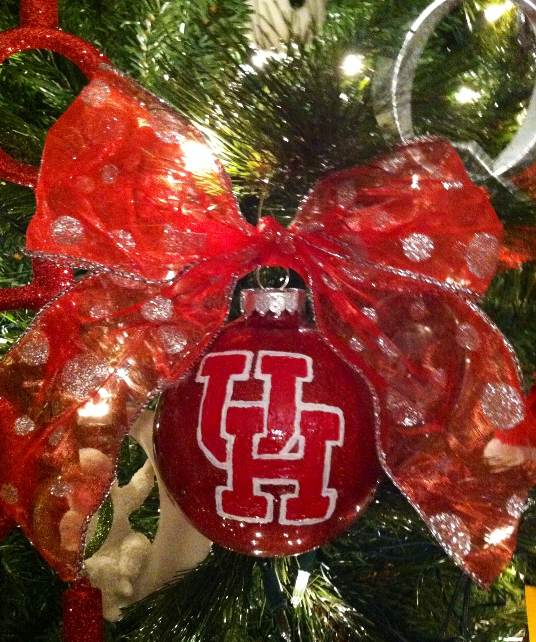 Rutgers ornament - University Of Houston Christmas Ornament
