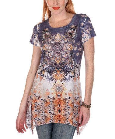 Another great find on #zulily! Blue Kaleidoscope Tunic by Gizel #zulilyfinds