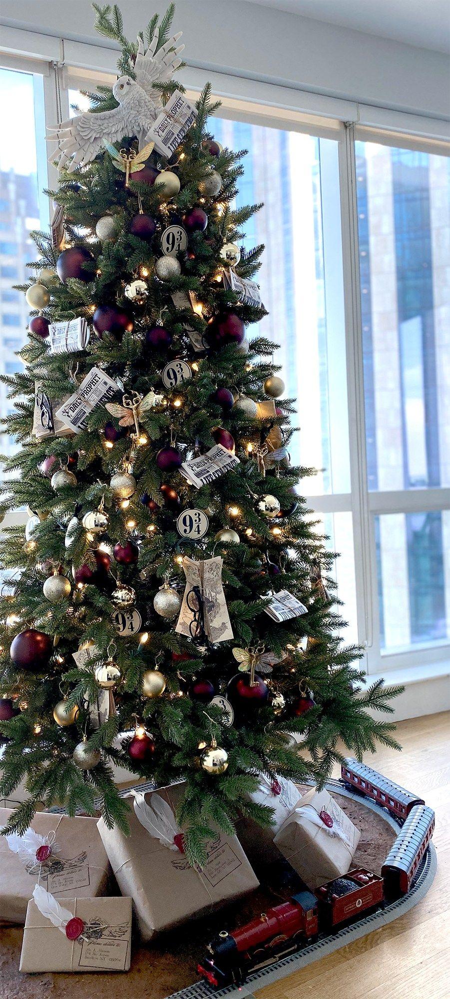 DIY Harry Potter Christmas Tree | Over the Rainbow and Back -   18 christmas tree themed ideas