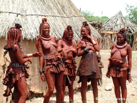 Giggling Himba Women In My Former Home Namibia Namibia