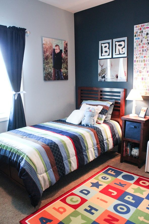 Big boy room reveal the middle child s room best of for Boys room paint ideas