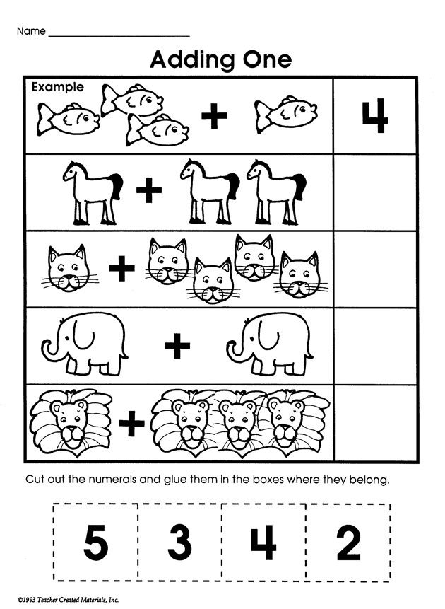 Adding One - Printable Addition Worksheet for Kids | Homeschool ...