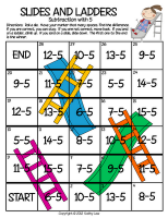 Slides And Ladders Subtraction Fact Fluency From First Grade A La