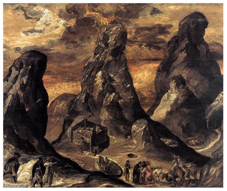 El Greco Famous Artwork | mount-sinai-painting-by-el-greco-el-greco-famous-paintings-replicas ...
