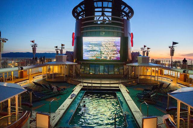 Movie By The Pool On Disney Wonder, Disney Cruise Line