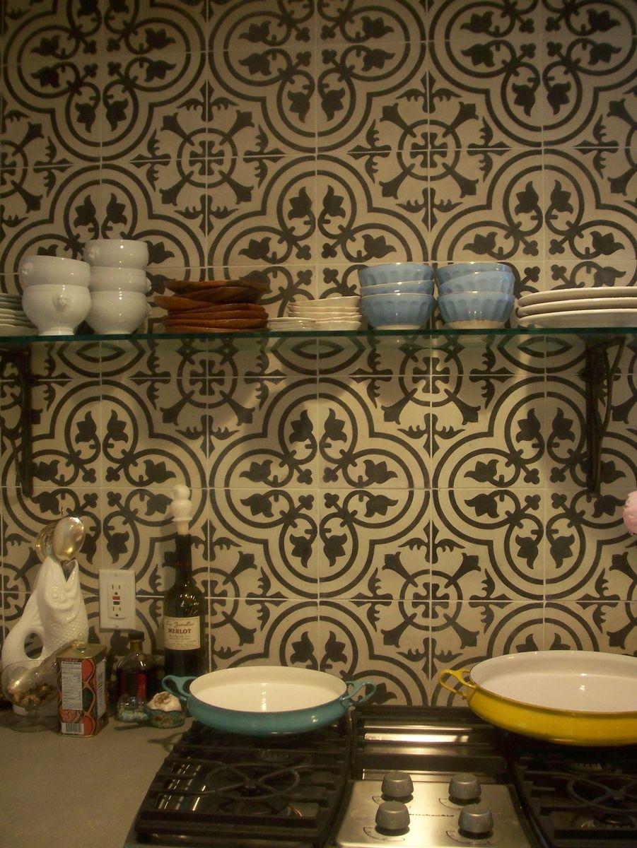 - Custom Tile Kitchen Backsplash - Cluny Cement Tile Moroccan Tile