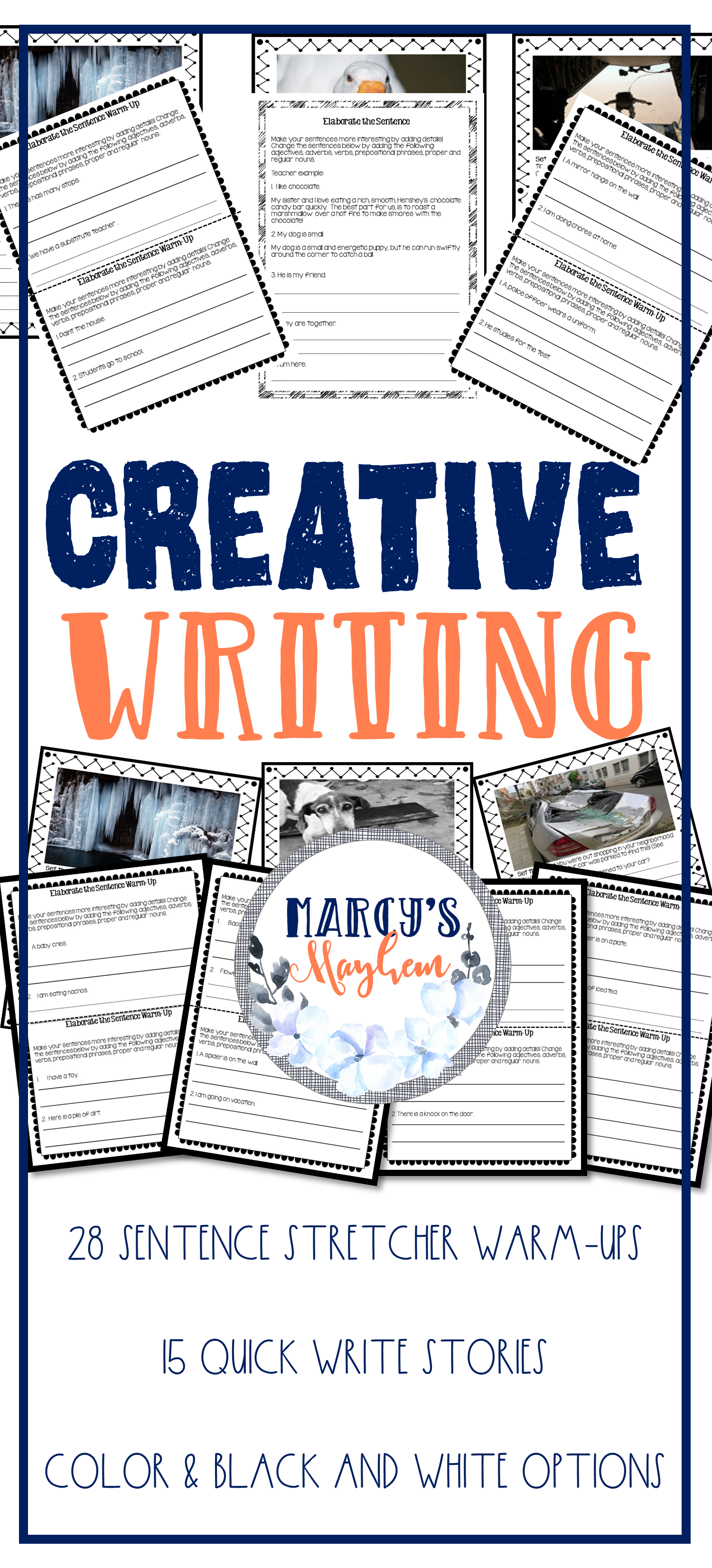 Creative Writing 4th And 5th Grade Sentence Building