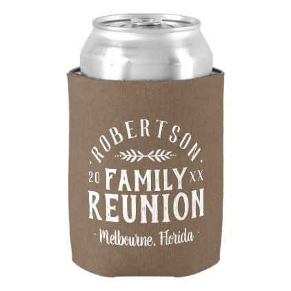 Modern rustic personalized family reunion can cooler baby gifts modern rustic personalized family reunion can cooler baby gifts giftidea diy unique cute negle Image collections