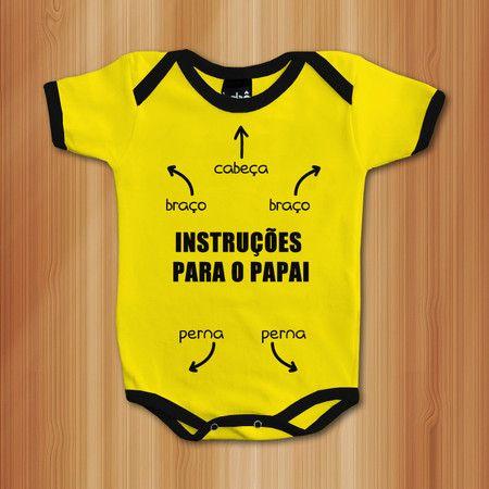 4396d5273a Body Manual De Instruções - Roupas De Bebês Divertidas e Engraçadas