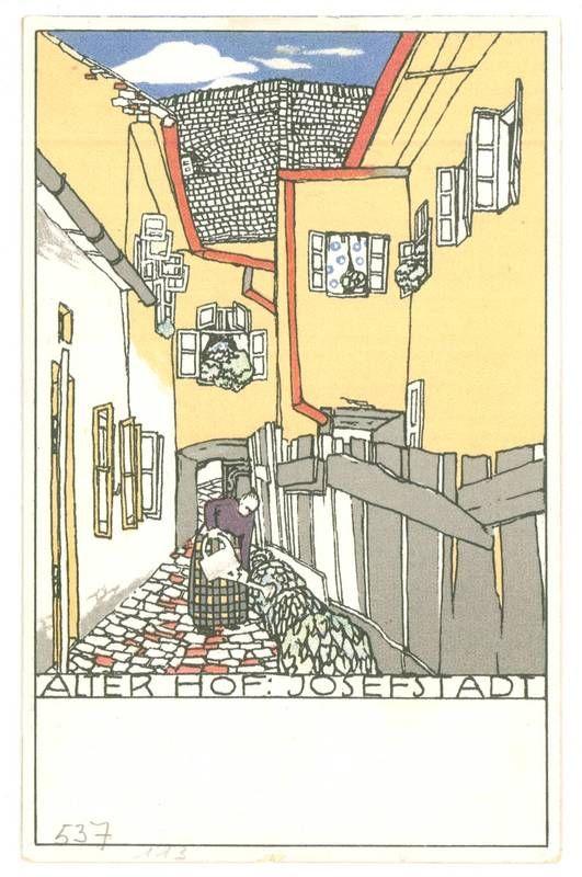 "postkarte nr 537 ""alter hof josefstadt"" wien 1911 mit"