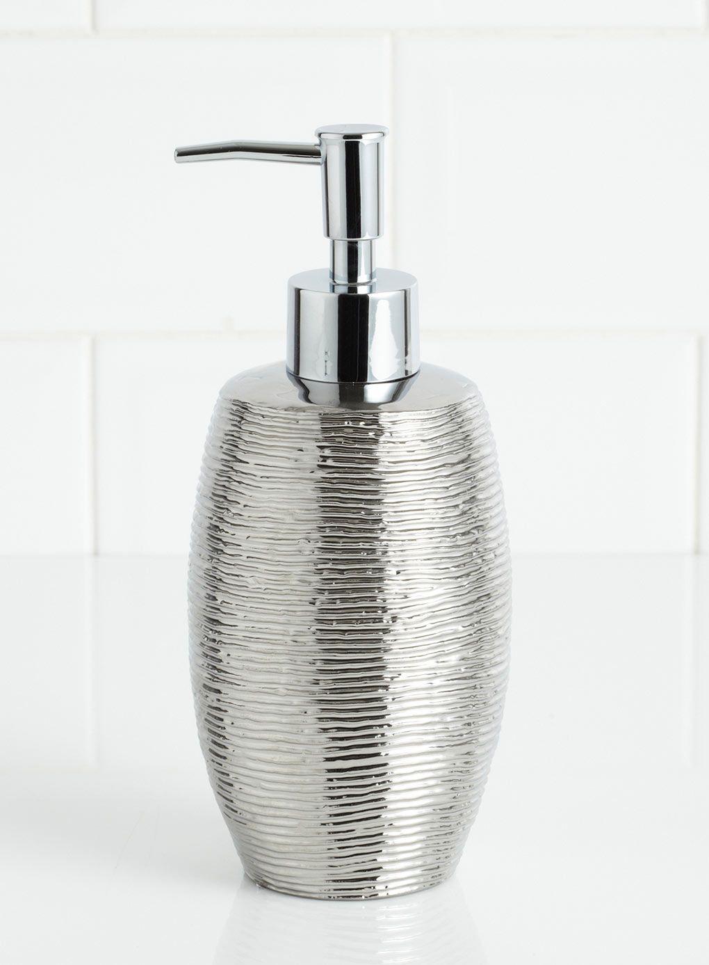 Embossed metallic soap dispenser co ordinated - Bathroom accessories soap dispenser ...
