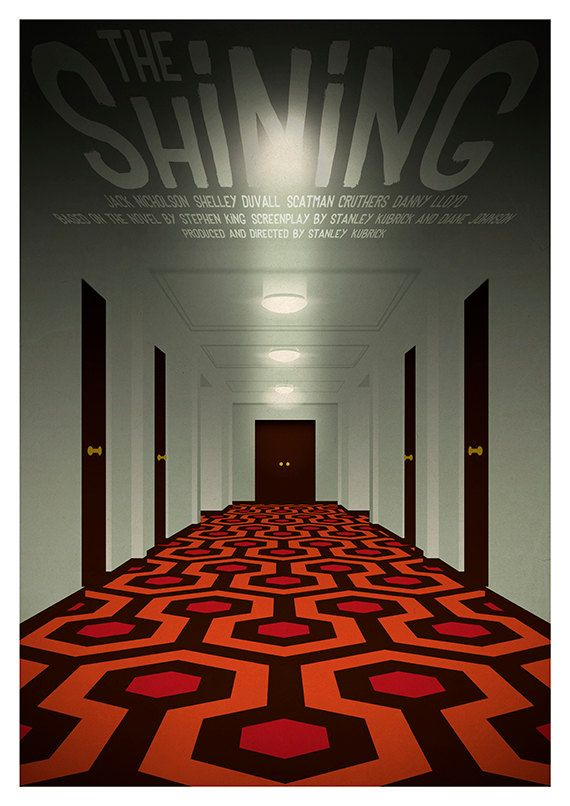 Movie poster 'The Shining' colour print | The shining ...